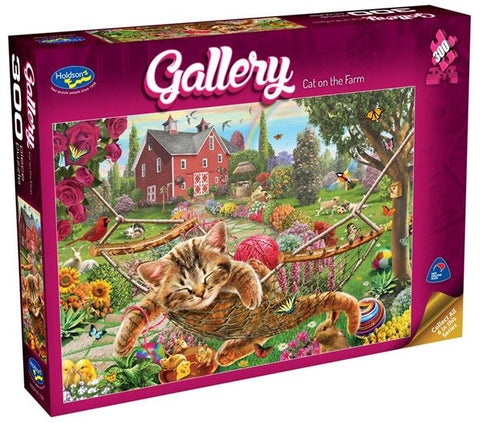 HOLDSON - GALLERY CAT ON THE FARM 300pc Puzzle