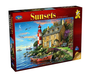 HOLDSON - SUNSETS 3 COTTAGE LIGHTHOUSE 1000pc Puzzle