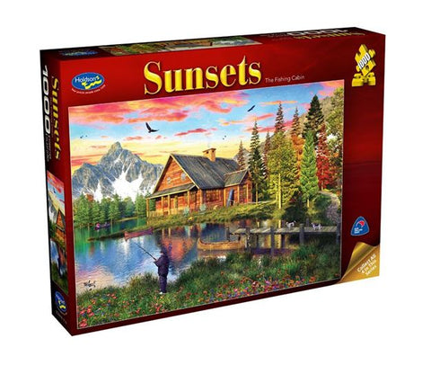 HOLDSON - SUNSETS 3 THE FISHING CABIN 1000pc Puzzle