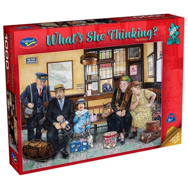 HOLDSON - WHAT'S SHE THINKING CRITICS 1000pc Puzzle