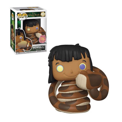 Jungle Book - Mowgli with Kaa US Exclusive Pop! Vinyl