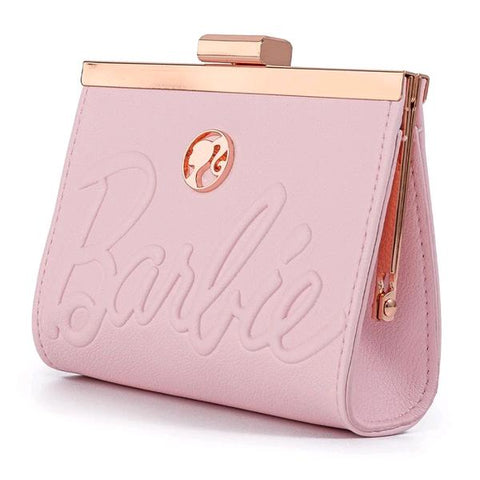 Loungefly - Barbie Rose Gold Logo Kisslock Purse