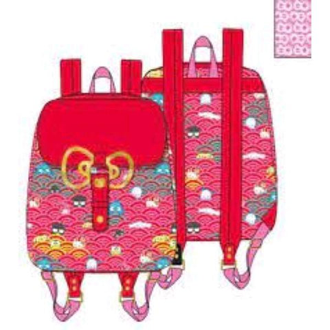 Loungefly - Sanrio - 60th Anniversary Gold Bow Mini Backpack