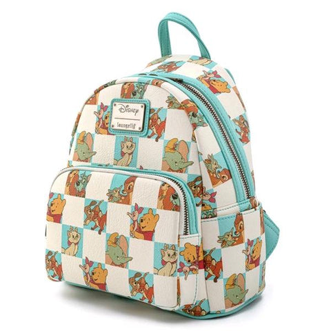 Loungefly Disney - Mint Checker Mini Backpack