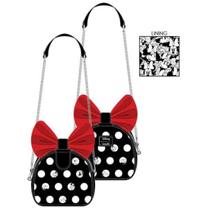 Loungefly: Mickey Mouse - Minnie Big Red Bow Crossbody Bag