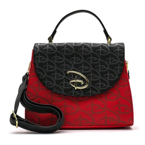 Loungefly - Disney Red & Black Logo Crossbody