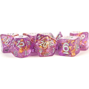 MDG Digital Resin Dice Set 16mm - Purple with Gold Foil