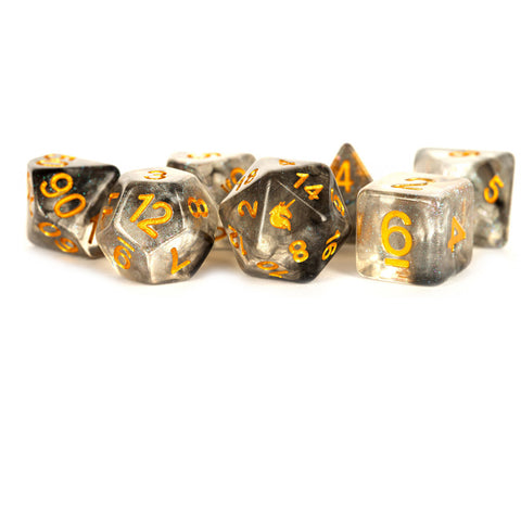 MDG Unicorn Resin Polyhedral Dice Set - Rogue Rage