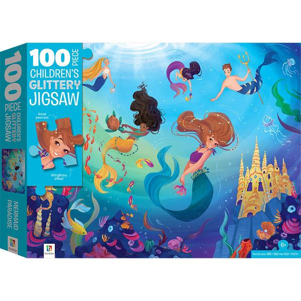 MERMAID PARADISE GLITTERY 100pc Puzzle