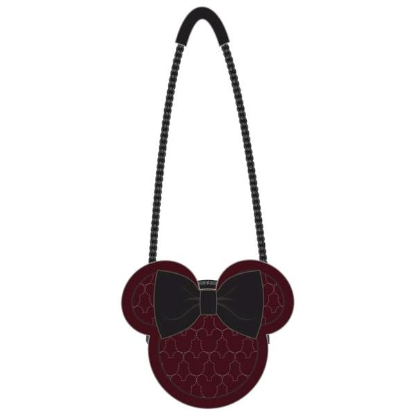 Loungefly: Mickey Mouse - Brown w/Bow & Ears Crossbody Bag