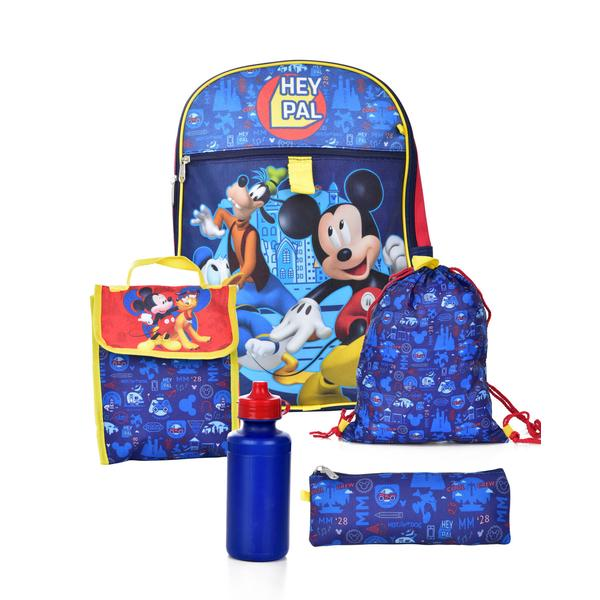 Mickey Mouse Backpack 5 Piece Set