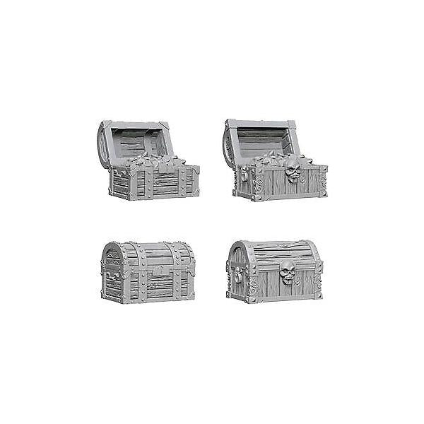 D&D Wizkids Deep Cuts Unpainted Miniatures Chests