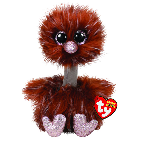 BEANIE BOOS ORSON BROWN OSTRICH Medium Size