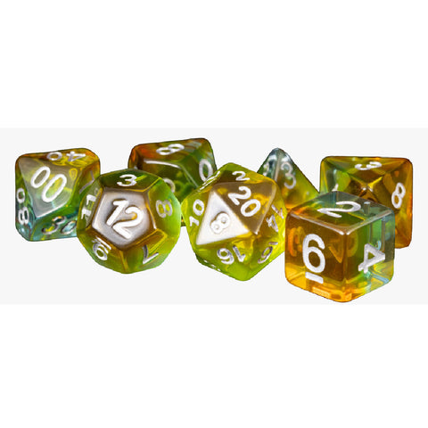 MDG Polyhedral Resin Dice Set - Kiwi Fruit