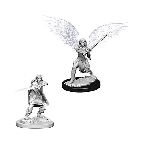 D&D - Unpainted Aasimar Female Fighter