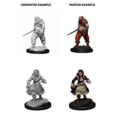 WizKids Deep Cuts Unpainted Miniatures Pirates