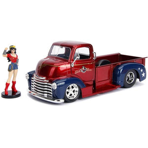 DC Bombshells - Wonder Woman Chevy Pickup 1:24 Scale Hollywood Rides Diecast Vehicle