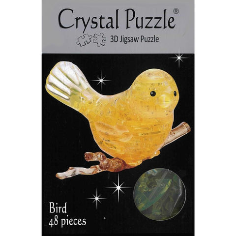 3D  CRYSTAL  YELLOW BIRD PUZZLE