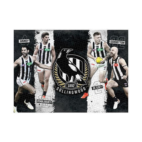 AFL Puzzle Collingwood Magpies 4 Player Puzzle 1,000 pieces