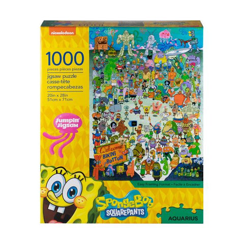 Aquarius Puzzle Spongebob Squarepants Cast 1,000 pieces Puzzle