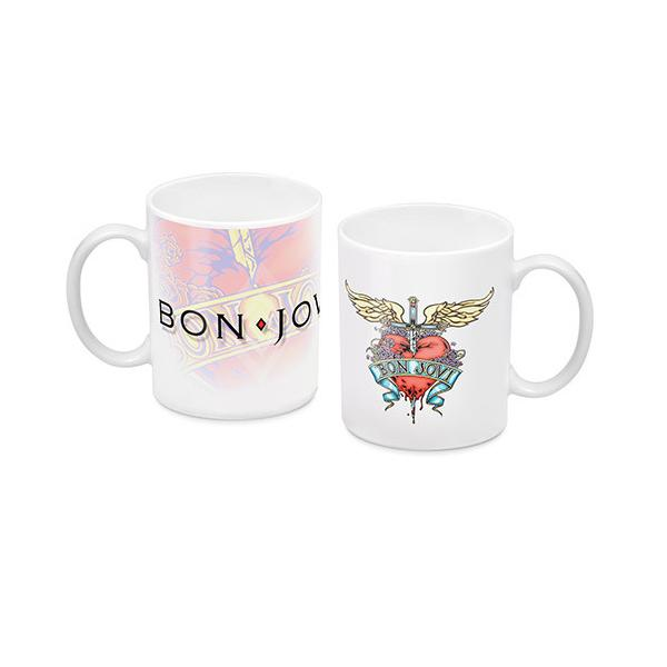 Bon Jovi White Coffee Mug