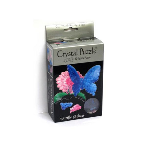 3D Blue Butterfly Crystal Puzzle