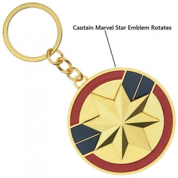 Captain Marvel Spinning Keychain