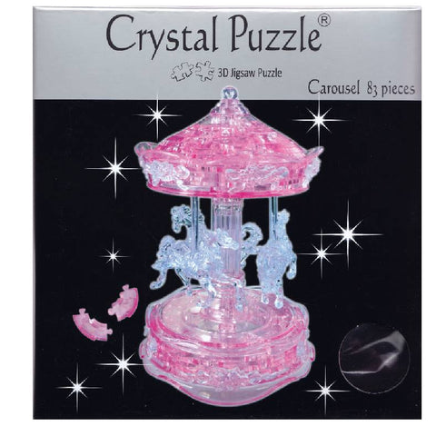 3D Crystal Pink Carousel Puzzle