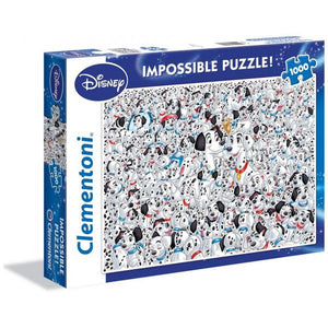 Clementoni Puzzle Disney 101 Dalmatians Impossible Puzzle 1,000 pieces