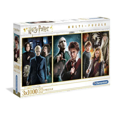 Clementoni Puzzle Harry Potter 3 Pack Puzzle 1,000 pieces each