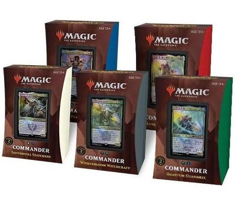 Magic Strixhaven: School of Mages Commander Set of 5