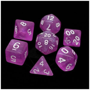Die Hard Dice Polymer RPG Polyhedral Set -  Sakura with White