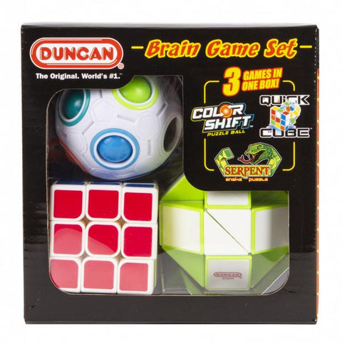 Duncan Brain Game Combo Set (Colour Shift, Quick Cube & Serpent)