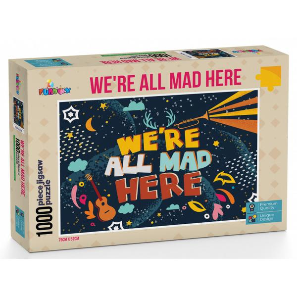 Funbox Puzzle Were All Mad Here Puzzle 1,000 pieces