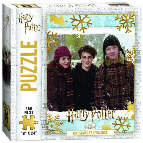 USAOPOLY Puzzle Harry Potter Christmas at Hogwarts 550 pc  Puzzle