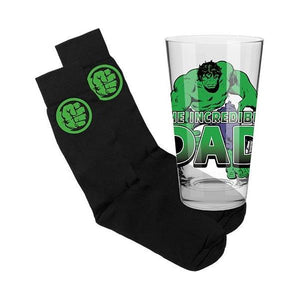 Hulk Glass and Socks Gift Pack