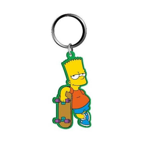 Keyring Soft Touch The Simpsons Bart Simpson with Skateboard