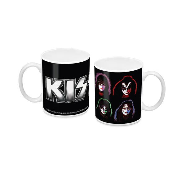 KISS Coffee Mug Solo Album Faces