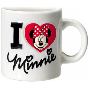 Magnet Half Ceramic Mug Minnie Mouse I Love Minnie Mouse WHITE