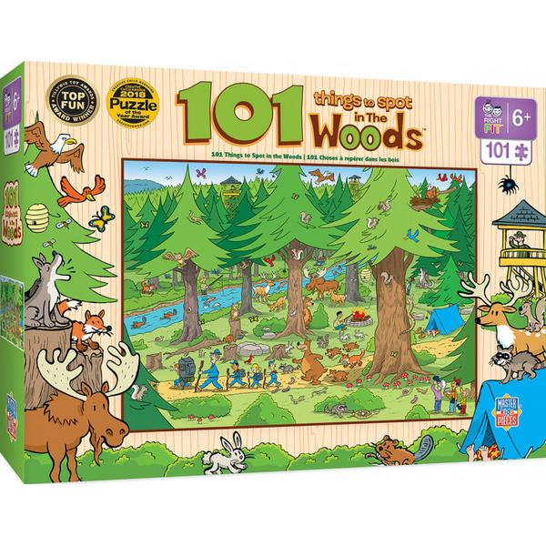 Masterpieces Puzzle 101 Things to Spot in the Woods Puzzle 101 pieces