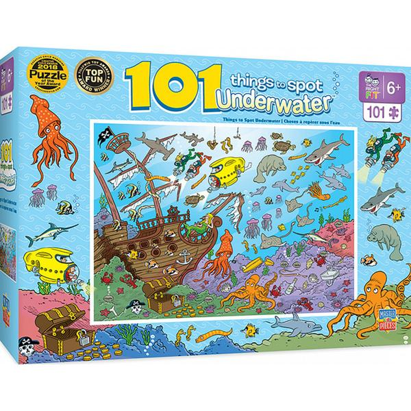 Masterpieces Puzzle 101 Things to Spot Underwater Puzzle 101 pieces