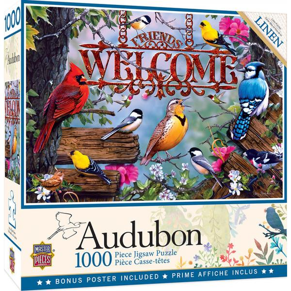Masterpieces Puzzle Audubon Perched 1,000pc Puzzle