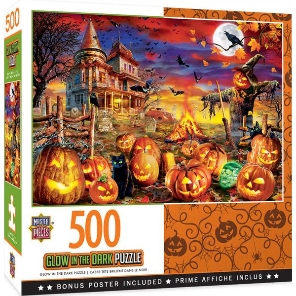 Masterpieces Puzzle Halloween Glow All Hallow's Eve 500pc Puzzle