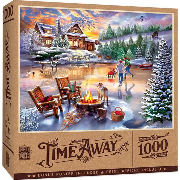 Masterpieces Puzzle Time Away An Evening Skate 1,000 pc Puzzle