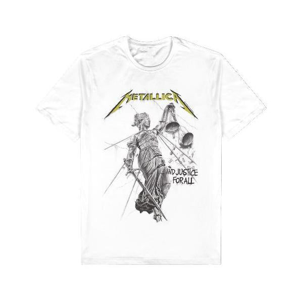 Metallica Justice for All  T Shirt - Mens Large