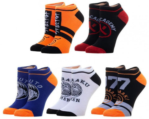 Naruto Ankle Sock Sets 5 Pack