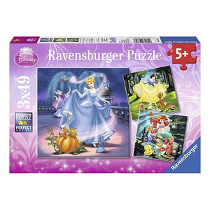 Ravensburger Disney Snow White Cinderella Ariel 3x49 pieces