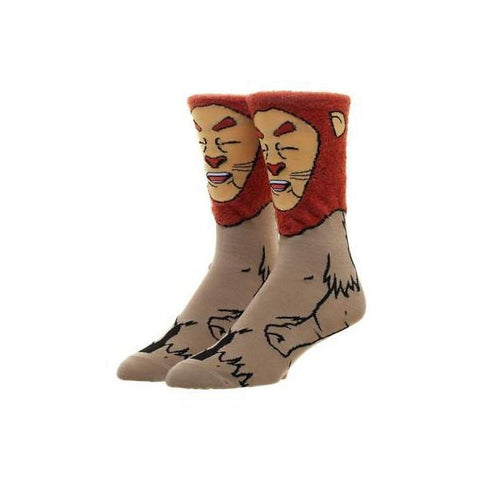 Image of The Wizard of Oz Cowardly Lion 360 Character Socks