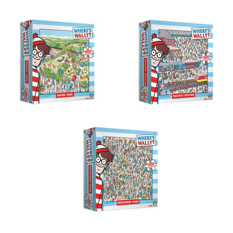 Wheres Wally 1000pce Puzzle - 3 Assorted Designs