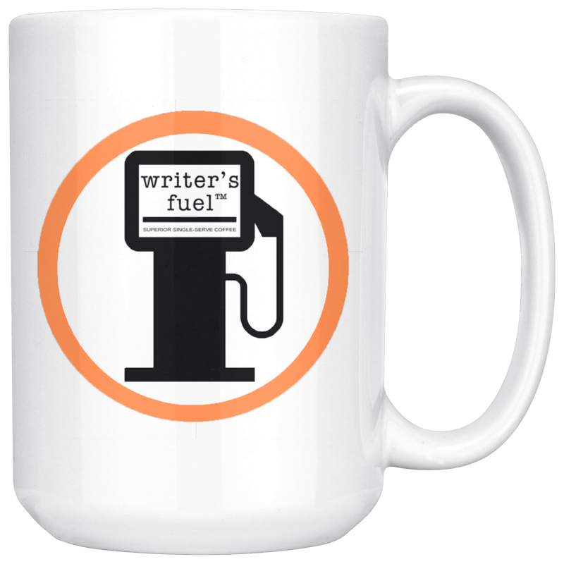 WRiTER'S FUEL LOGO MUG
